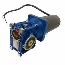 12VDC 22rpm Worm Gear Motor 100W Power Gearbox Reduction Ratio Right Angle