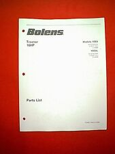 BOLENS TRACTOR 16 HP TWIN BRIGGS MODELS 1669 & 1669L  PARTS MANUAL 2/90