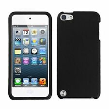 For Apple iPod Touch 5th Gen/6th Gen Black Hard Rubberized Case Cover