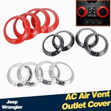4PCS Interior Parts Air Condition Outlet Vent Cover Trim for Jeep Wrangler 07-15