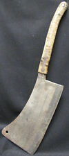 Antique 1910-20 Folk Art Butcher Cleaver #13 PH Kinnel MFR Columbus Ohio