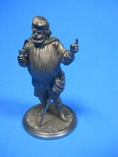 Renaissance Man with Sword Cape Drink Hat Pewter Figurine