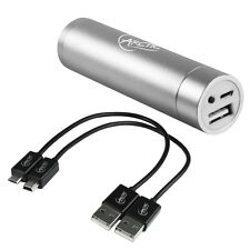 Arctic Cooling Power Bank 2200mAh Portable Backup USB Battery Charger (Silver)