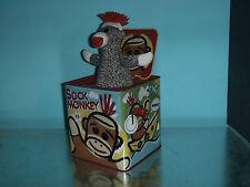 Überraschungsbox, Musikbox, Blech, Sockenaffe, Sock Monkey, Schylling