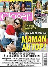 CLOSER N°568 29/04/2016 BRUNI/ SALAME/ FOX/ MINOGUE/ FERRI/ STONE/ PRINCE/ EFRON