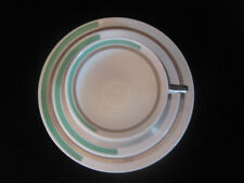 Shelley EVE Shape Art Deco Cup & Saucer GREEN & SILVER BAND