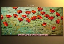"""YH725 42X20""""Hand painted Oil Canvas Wall Art home Decor abstract flower NO Frame"""
