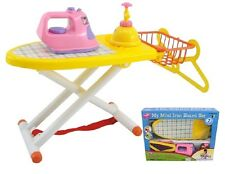 GIRLS KIDS MY MINI FIRST IRONING BOARD SET ROLE PLAY PRETEND HOUSEWORK TOY 1869