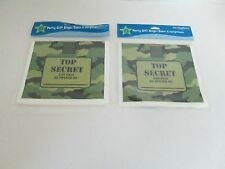 MILITARY ARMY CAMOUFLAGE PARTY LOOT GOODY BAGS - LOT OF 2 PACKS - PARTY SUPPLIES