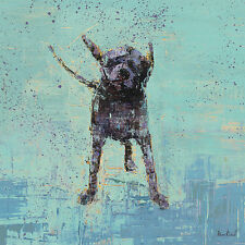 "LABRADOR RETRIEVER BLACK DOG FINE ART PRINT - ""Shake No. 3"""