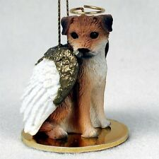 Border Terrier Dog ANGEL Tiny One Ornament Figurine Statue