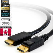 Displayport DP Display Port To HDMI cable Converter Adapter Male to Male 6FT