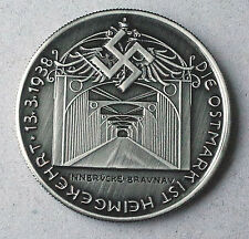 ADOLF HITLER COMMEMORATIVE GERMAN COIN 1938 * EXONUMIA * THIRD REICH WW2