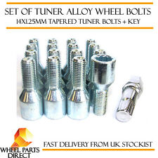 Set of 16 14x1.25mm 14x1.25 Tuner Drive Sparco SD Alloy Wheel Bolts + Nuts Key
