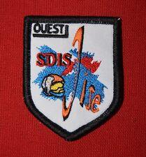 Lot Insigne militaire patch tissu armée écusson Sapeurs Pompiers SDIS Oise Ouest