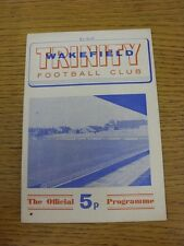27/08/1971 Rugby League Programme: Wakefield Trinity v York (Writing On Front)