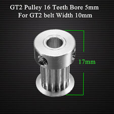 GT2 Pulley 16 Teeth Bore 5MM Timing Gear Alumium For GT2 Belt Width 10MM 3D Prin