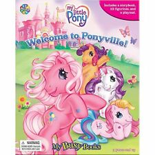 MY LITTLE PONY - WELCOME TO PONYVILLE BUSY BOOK - 12 FIGURES AND A PLAYMAT