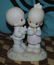 Precious Moments Figurine Boy Girl Dating Love is from Above 1989 Vintage MINT
