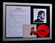 JOHN LEGEND All Of Me TOP QUALITY MUSIC CD FRAMED DISPLAY+EXPRESS GLOBAL SHIP