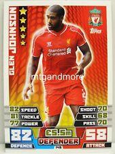 Match Attax 2014/15 Premier League - #148 Glen Johnson - Liverpool