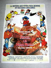 AN AMERICAN TAIL Original Vintage MOUSE Movie Poster CARTOON DON BLUTH ANIMATION