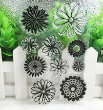 Daisy Silicone Rubber Clear Stamp Seal Scrapbooking Diary Christmas Card DIY