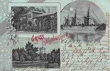 AK Litho. Gruss aus Wilhelmshaven J. Schmidts Restaurant Giftbude S.M.S. 1898
