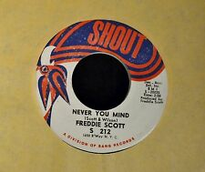 Freddie Scott Shout 212 Am I Grooving You and Never You Mind EX, New Old Stock