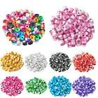 6x4 mm 100 Pcs Aluminum Cylinder Charm Multi-Color Spacer Loose Beads Wholesale