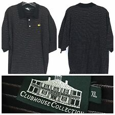 ClubHouse Collection The Masters Logo Golf Italy Striped SS Polo Shirt Mens XL
