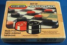 Vintage Wooden Draughts made by Spear's Games