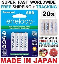 20 Panasonic Eneloop 750mAh AAA Ni-MH 1.2V 2100x BK-4MCCE Akku 12.2015 +5x box