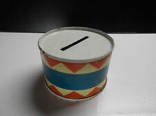 Ancienne tirelire en Tole tambour