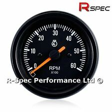 85mm Black Face Rev Counter Tachometer Tacho RPM Gauge - Diesel Turbo TDI TD PD