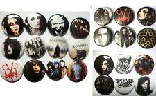 Black veil Brides BVB Army buttons pins Andy sixx rock metal 24pcs