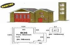 SUPERQUICK - B36 - Country Fire Station - OO SCALE - REQUIRES GLUEING - NEW-!!