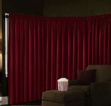 Velvet Theater ABSOLUTE BLACKOUT Energy Efficient Curtain Panel 40x84 RED