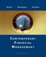 Contemporary Financial Management Moyer Corporate Finance Business Accounting