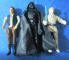 Star Wars Bend-Ems Lot Darth Vader,Han Solo,Luke Skywalker Action Figures 1993