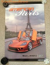 2001 SALEEN S7 SUPERCAR IN PARIS POSTER NOS FORD MUSTANG GT SHELBY BOSS COBRA