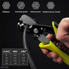 Versatile 8-14AWG Electric Cable Cutter Wire Stripper Stripping Plier Hand Tool