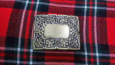 TC Mens Deluxe Thistle Design Kilt Belt Buckle Antique Finish/Kilt Belt Buckles