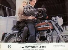 ALAIN DELON MARIANNE FAITHFULL  THE GIRL ON A MOTORCYCLE 1968 LOBBY CARD #7