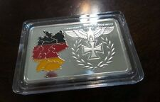 WWII WW2 German Deutsche Reichsbank Tri Color flag Medallion Token medal bar