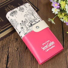 Fashion Women Lady Long Leather Wallet Button Clutch Card Holder Purse Bag New
