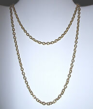 "Kirks Folly 30"" Goldtone Chain Necklace 1/8"" Wide-Lobster Claw Clasp+Shell Charm"