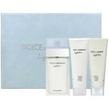 LIGHT BLUE by Dolce & Gabbana 3 pcs GiftSet Women 3.3 oz / 100 ml EDT SPRAY SEAL