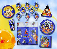 DRAGONBALL Z Birthday Party Set Supplies Tableware Cake Plates Tablecover Favors