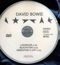 David Bowie DVD single 3 music videos: Lazarus Blackstar Valentine's Day [Not CD